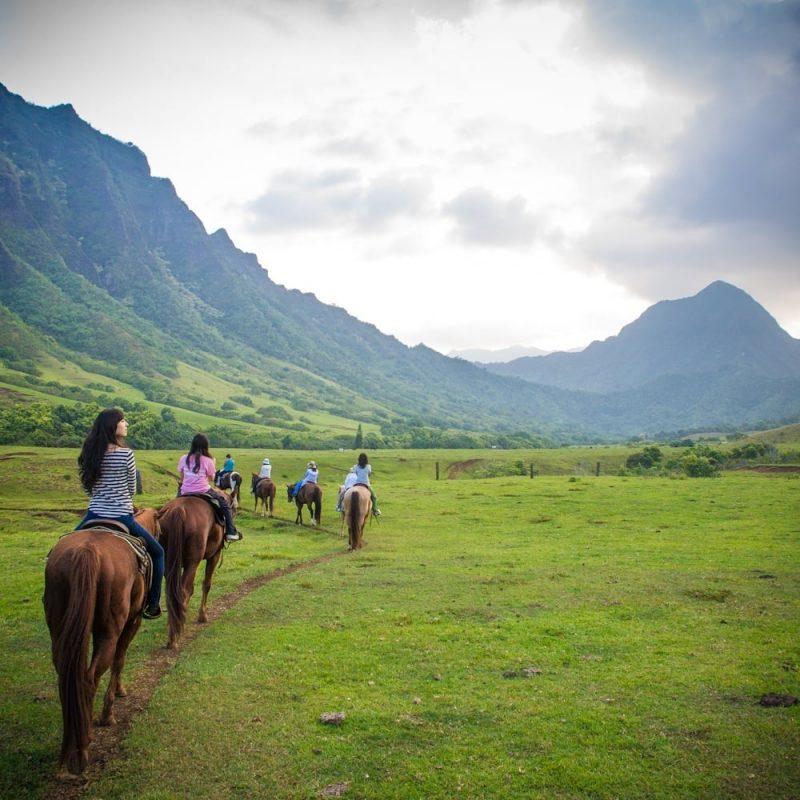 Kualoa Ranch At Oahu Hawaii Hawaii On A Map
