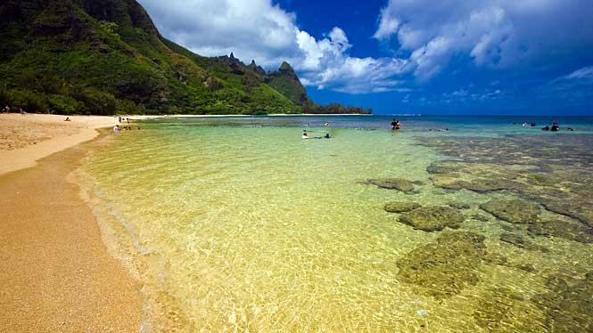 Tunnels Makua Beach Kauai Hi Hawaii On A Map