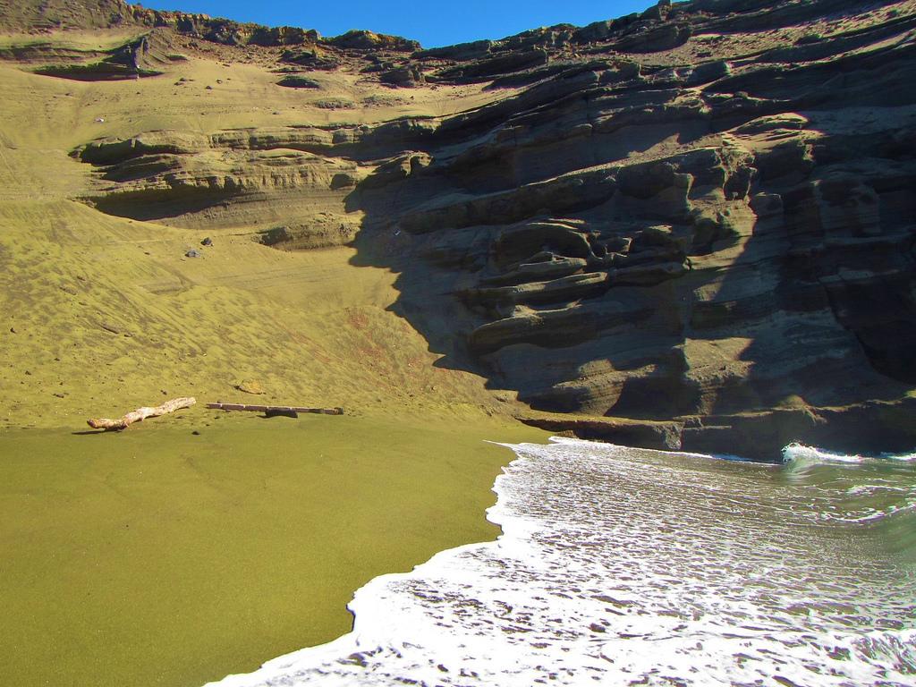Papakolea Green Sand Beach - Hawaii on a Map
